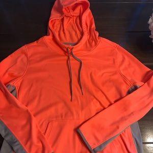 Danskin Now Orange/Grey Hoodie